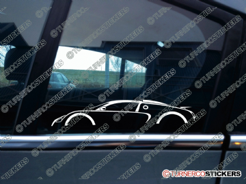 2x Car Silhouette sticker - Bugatti Veyron supercar